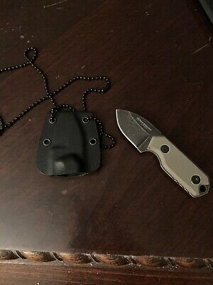 Boker Magnum 02SC743 Lil Friend Micro Tan G10 Handle Fixed Blade Neck Knife
