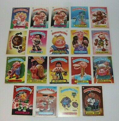 Garbage Pail Kids Series 4 Cards Lot of 18 Topps Chewing Gum Inc 1986 Very Good