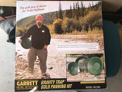 Garrett Prospecting Mining Panning Gravity Trap Gold Pan Kit in Box