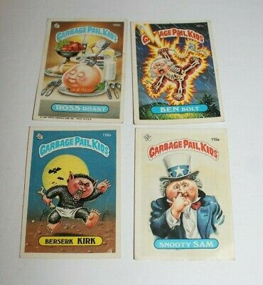 Garbage Pail Kids 4 Cards Lot Topps Chewing Gum Inc 1986, 116b, 188b, 110a,191a