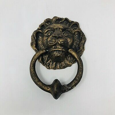 Lion Head Door Knocker Victorian Style Brass Home Door Knocker Door Bell