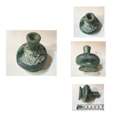 Ancient Roman glass bottle very beautiful original glass from Afghanistan Old