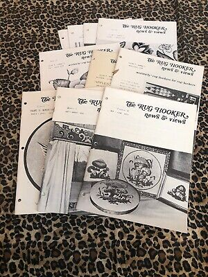VINTAGE Collection Of 10 RUG HOOKER NEWS & VIEWS 1973-1978 Lot