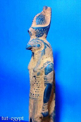 Rare Horus Sculpture Egyptian Antique Statue Stone Falcon Unify 1321-1240 BC