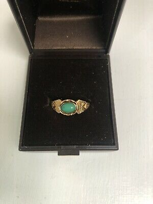 Antique 22 Carat Gold Ring With Turquoise Stone