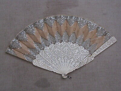 ladies very delicate antique hand held fan for restoration