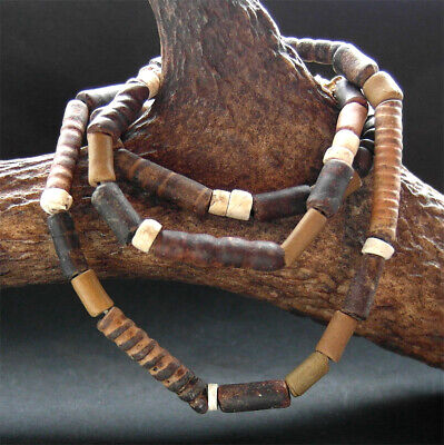 Ancient Sumerian terracotta bead necklace - wearable