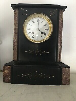 antique clocks pre 1900 Mantle Slate  /marble