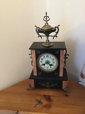 antique clocks pre 1900 Mantle.   Slate/marble