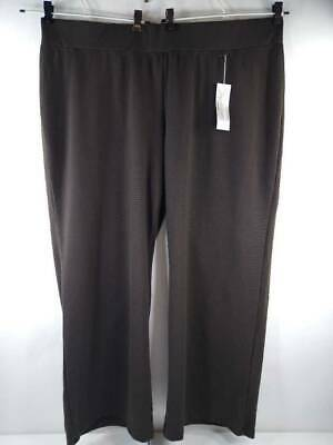 Soft By Avenue Womens Dress Pants Brown Stretch Modern Fit Trousers 26/28 New