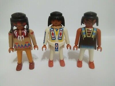 Playmobil Lot Of 3 Native American indians (m)
