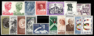 Italy, 1957 complete Year Mint Set MNH VF