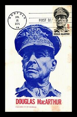Dr Jim Stamps Us Douglas Macarthur First Day Maximum Card Colorano