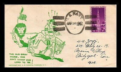 Dr Jim Stamps Us World War Ii Patriotic Cachet Naval Cover 1942