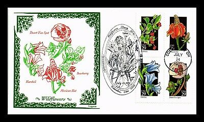 Dr Jim Stamps Us Wildflowers Combo Virginia First Day Cover