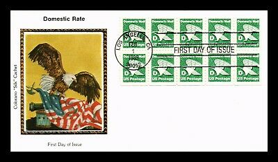 Dr Jim Stamps Us Domestic Rate D Eagle Colorano Silk Fdc Cover Booklet Pane