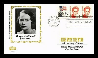 Dr Jim Stamps Us Margaret Mitchell Gone With Wind First Day Cover Pair