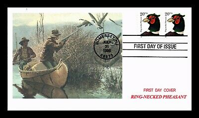 Dr Jim Stamps Us Ring Necked Pheasant First Day Rka Cover Pair