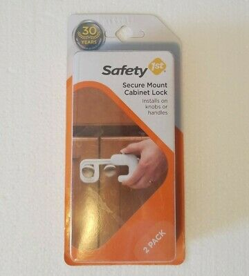 Secure Mount Cabinet Lock - Safety 1st - 2 Pack - Install on Knobs or Handles