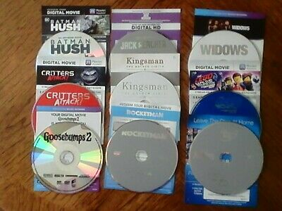 Various Dvd's With Digital Code