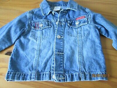 Boys Blue Denim Jacket Age 1.5 / 2 Years .Vguc