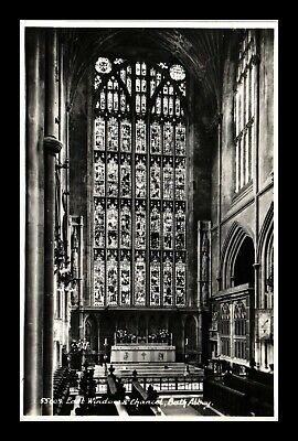 Dr Jim Stamps East Window Chancel Bath Abbey United Kingdom Rppc Postcard