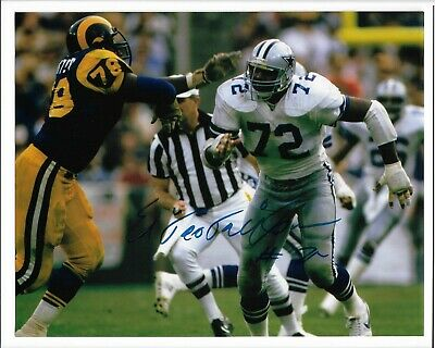 "Ed ""Too Tall"" Jones Signed 8x10 Dallas Cowboys Photo"