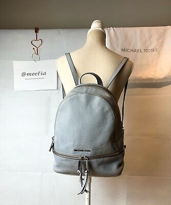 "Michael Kors ""Rhea Zip Medium Backpack""aus Leder in grau/grey (NP=315€)"