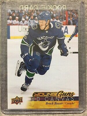 2017-18 Upper Deck - Brock Boeser Rookie Young Guns UD Canvas C223 Canucks RC N1