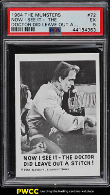 1964 The Munsters Now I See It-The Doctor Did Leave Out A #72 PSA 5 EX (PWCC)