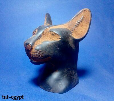 RARa ANCIENT EGYPTIAN ANTIQUE STATUE Of Figurine  Cat Goddess Bast-Bastet 940 Bc