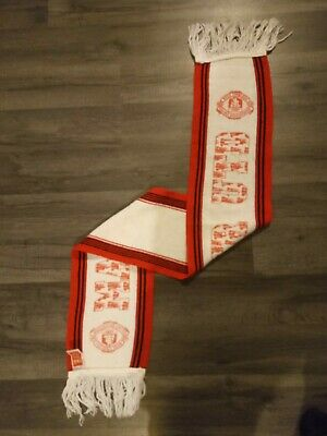 Manchester United Football Scarf Retro Vintage Merchandise 1990's