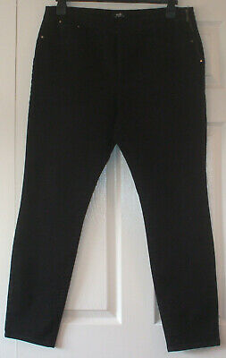 Ladies black skinny jeans with side zip fastening from Wallis, size 18