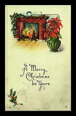 Dr Jim Stamps Us Merry Christmas Be Yours Embossed Topical Greetings Postcard
