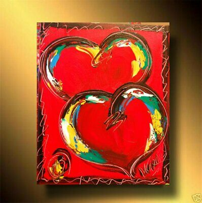 VALENTINE HEARTS Abstract Oil Painting Original Canvas Wall Decor MADE TO ORDER