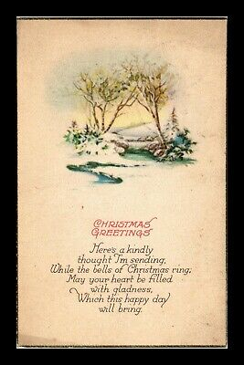 Dr Jim Stamps Us Christmas Greetings Topical Made In Usa Postcard