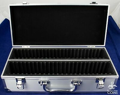Aluminum Storage Box / Case for 50 Certified Slab Coins Fits: NGC PCGS ANACS ICG