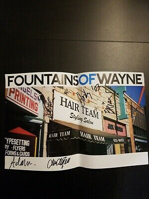 Awesome - FOUNTAINS OF WAYNE - Autographed Poster - Signed By All Band Members