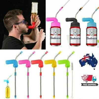 Beer Snorkel Can Funnel Drinking Straw Games Hens Bucks Party Entertainment Bar