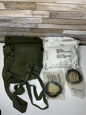 VTG Military M13A2 Chem-Bio Gas Mask Filter Element Set With Bag And Eyelenses