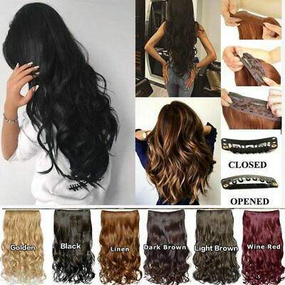 Womens Ladies Long Wavy Curly Hair Synthetic Cosplay Full Lace Wig Wigs Party AU