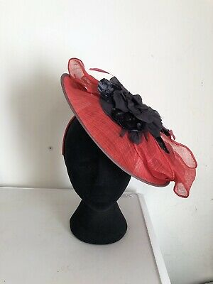 Pink Navy Blue Jacques Vert Fascinator Weddings Christening Ladies Day Ascot