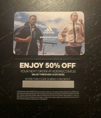 Adidas Store 50% Off Code (US ONLINE) ADIDAS DISCOUNT PASS FEBRUARY 2020