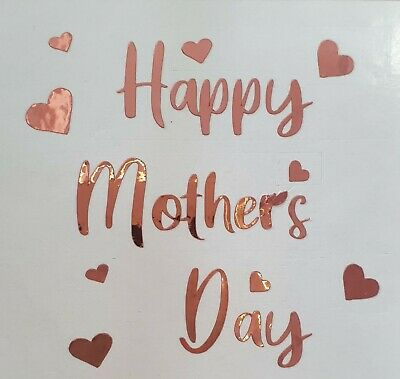 Vinyl Sticker Decal Mum Happy Mothers Day Gin Glass decal Rose Gold