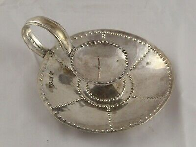 ARTS & CRAFTS STYLE SOLID STERLING SILVER CHAMBER STICK ROBERT CROUCH 1966 76 g