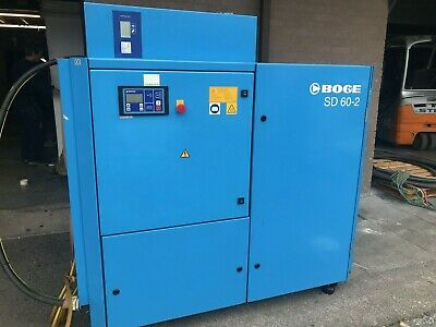 Boge sd60-2 industrial compressor in good working order