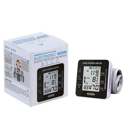US Automatic Digital Wrist Blood Pressure Monitor BP Cuff Machine fits all voice