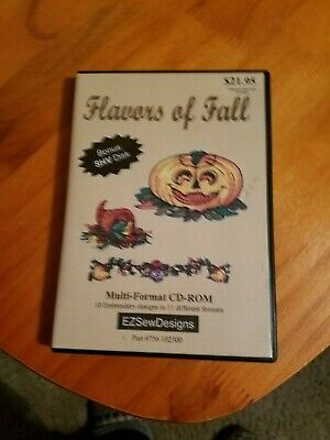 Embroidery Designs CD - EZ Sew Designs - Flavors of Fall