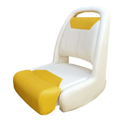 Sea Ray Boat Bucket Helm Seat 2074090 | Flip Up Off White Yellow