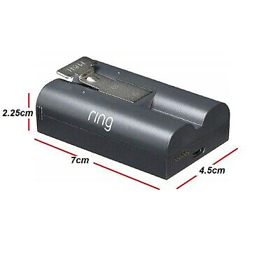 RING 8AB1S7 Quick Release Battery Rechargeable Batteries for Video Doorbell 2